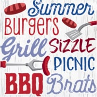 Creative Converting Summer BBQ Lunch Napkin 16 Pack