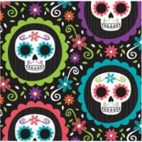 Creative Converting Day of the Dead Beverage Napkins - 16 pk