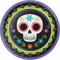 Creative Converting Day of the Dead Plates - 8 pk