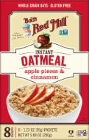 Bob's Red Mill Apple Pieces & Cinnamon Gluten Free Instant Oatmeal Packets - 8 ct / 1.23 oz