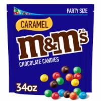 M&M's Caramel Chocolate Candies Party Size Stand Up Pouch