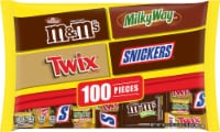 Mars Mixed Chocolate Variety Bag 100 Count