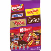 Mars Mixed Twix Skittles Starbust M&Ms Snickers Halloween Candy Variety Bag - 160 ct