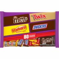 Mars Mixed Chocolate & Sugar Assorted Halloween Candy - 80 ct