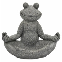 Plutus Brands Frog  Decoration in Gray Resin - 1