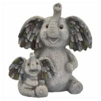 Plutus Brands Elephant Garden Decoration in Gray Resin