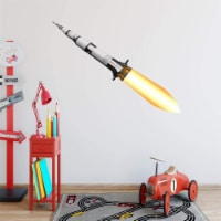 VWAQ Spaceship Wall Decal for Kids Rooms Space Rocket Ship Peel and Stick Sticker - NA10 - 1