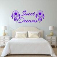 VWAQ Sweet Dreams Wall Decal Nursery - Dream Catcher Decor Kids Night Time Sticker - 1