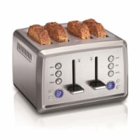 Hamilton Beach 6009878 Stainless Steel Silver 4 Slot Toaster, Chrome - 8.25 x 12.38 x 12 in.
