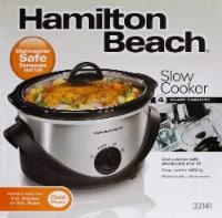 Hamilton Beach Oval Slow Cooker - Silver/Black
