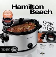 Hamilton Beach Stay or Go Slow Cooker - Silver/Black - 6 qt