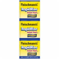 Fleischmann's Fast-Acting RapidRise Instant Yeast Packets 3 Count