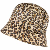 Totes Women's Cheetah Print Bucket Rain Hat - Brown