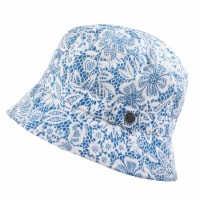 Totes Women's Bucket Rain Hat - Blue/White