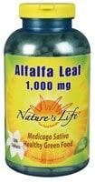Nature's Life Alfalfa Leaf 1000 mg Tablets - 500 ct