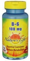 Nature's Life Vitamin B-6 Tablets 100 mg - 100 ct