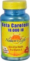 Nature's Life Beta Carotene Vegetarian Capsules 10000iu - 100 ct