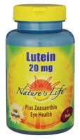 Nature's Life Lutein Softgels 20mg 100 Count