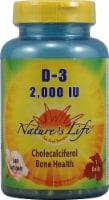 Nature's Life Vitamin D-3 Softgels 2000 IU - 240 ct