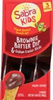 Sabra Kids Brownie Batter Dip & Graham Cracker Sticks Plant-Based Snack Kit