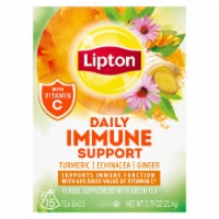 Lipton Daily Support Turmeric Echinacea Ginger Green Tea Bags 15 Count