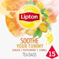 Lipton Soothe Your Tummy Caffeine Free Herbal Supplement Tea Bags