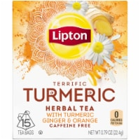 Lipton Terrific Turmeric Caffeine Free Herbal Tea Bags