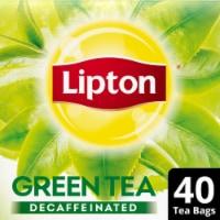 Lipton Decaffeinated Green Tea Bags 40 Count
