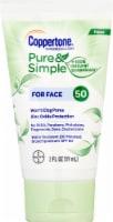 Coppertone Pure & Simple Face Sunscreen Lotion SPF 50