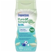 Coppertone Pure & Simple Kids Hypoallergenic Sunscreen Lotion SPF 50