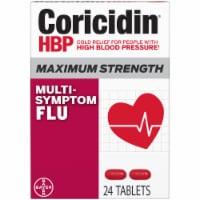 Coricidin HBP Maximum Strength Multi-Symptom Flu Relief Tablets