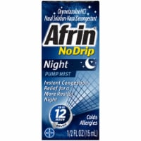 Afrin No Drip Night Nasal Relief Pump Mist