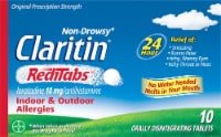 Claritin Non-Drowsy 24 Hour Reditabs Indoor & Outdoor Allergy Disintegrating Tablets 10mg 10 Count