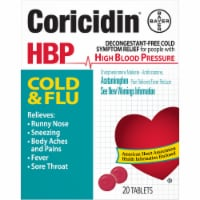 Coricidin High Blood Pressure Cold & Flu Relief Tablets