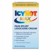 Icy Hot Max Strength Lidocaine Plus Menthol Pain Relieving Cream
