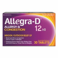 Allegra-D 12 Hour Non-Drowsy Allergy & Congestion Extended Release Tablets