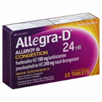 Allegra-D 24 Hour Non-Drowsy Allergy & Congestion Extended Release Tablets