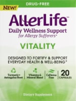 AllerLife Vitality Daily Wellness Allergy Support Capsules 20 Count