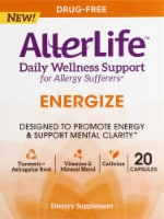 AllerLife Energize Daily Wellness Allergy Support Dietary Supplement Capsules 20 Count