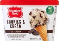 Meadow Gold Cookies & Cream Ice Cream - 48 fl oz
