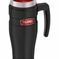 Thermos 30379555 16 oz. King Stainless Steel Travel Mug, Black & Red