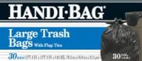 Handi-Bag Large Flap Tie Trash Bags 30 Gallon