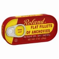Roland Anchovies Flat - 2 oz