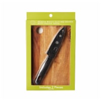 Dash of That Small Acacia Wood Cutting Board & Paring Knife - 2 pc