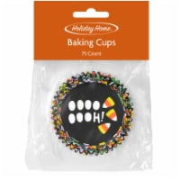 Holiday Home™ Candy Corn Mini Baking Cups - Black
