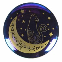 Holiday Home® All Hallows Cat Moon Round Serving Platter - Black/Gold