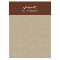 Holiday Home® Felix Plaid Tablecloth - Solid Tan