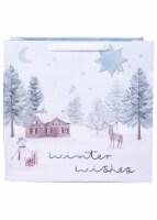 Holiday Home® Jumbo Snowy Scene Gift Bag