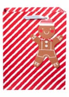 Holiday Home® Gingerbread Stripe Gift Bag