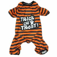 Holiday Home® Medium Striped Pet Pajamas - Orange
